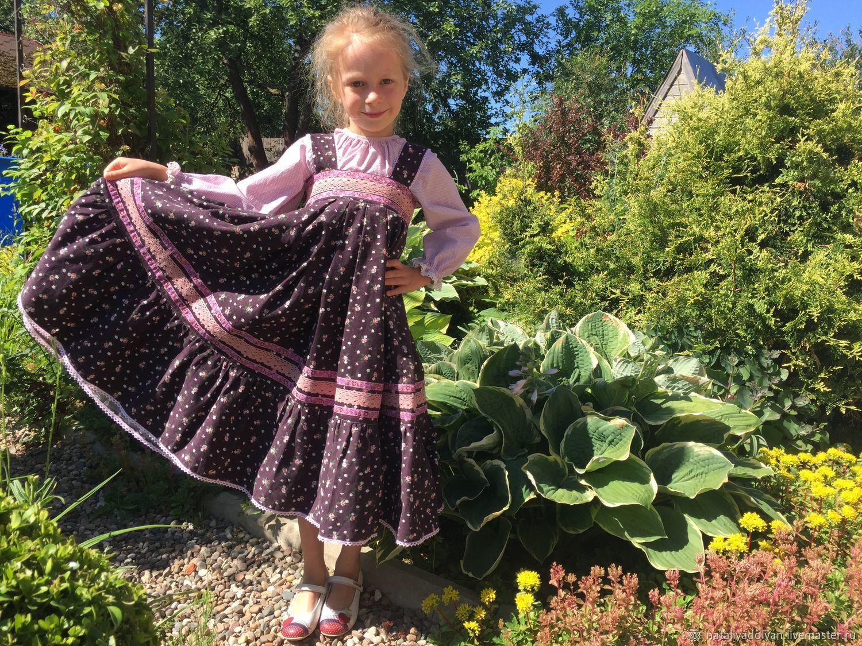 Sundress in Russian style ' Charmer', Childrens Dress, Ivanovo,  Фото №1