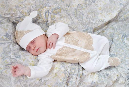 Купить комплект на выписку на выписку из роддома `Зефир`, подарок на рождение ребенка