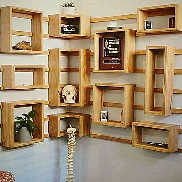 Мебель ручной работы. Ярмарка Мастеров - ручная работа Полки лофт. Handmade.