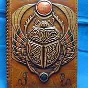 "Канцелярские товары handmade. Livemaster - original item Notebook ""SCARAB"". Handmade."