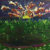 Картины ручной работы. Ярмарка Мастеров - ручная работа Осенний поцелуй. Handmade.