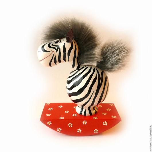 Приколы ручной работы. Ярмарка Мастеров - ручная работа. Купить Зебра (игрушка-качалка). Handmade. Игрушки, зебра яркая