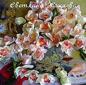 Картины и панно ручной работы. Ярмарка Мастеров - ручная работа Картина лентами Орхидеи. Handmade.