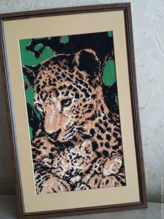 """Животные ручной работы. Ярмарка Мастеров - ручная работа. Купить Картина """"Леопарды"""". Handmade. Разноцветный, картина в подарок"""