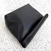 Сумки и аксессуары ручной работы. Ярмарка Мастеров - ручная работа РОЛЛ клатч из кожи черный, мягкий клатч, большой клатч. Handmade.