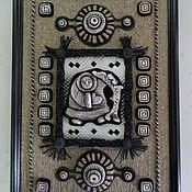 Картины и панно ручной работы. Ярмарка Мастеров - ручная работа Панно Хант с рыбой. Handmade.