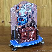 Канцелярские товары handmade. Livemaster - original item Follow the white rabbit, perpetual calendar. Handmade.