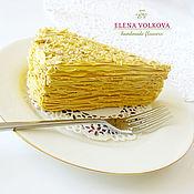 """Подарки к праздникам ручной работы. Ярмарка Мастеров - ручная работа Кусочек торта (муляж) """"Наполеон в гостях"""". Handmade."""