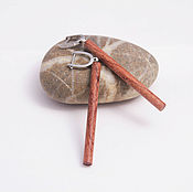 Украшения handmade. Livemaster - original item Dangle wood earrings. Handmade.