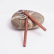 Украшения handmade. Livemaster - original item Wooden earrings long. Handmade.