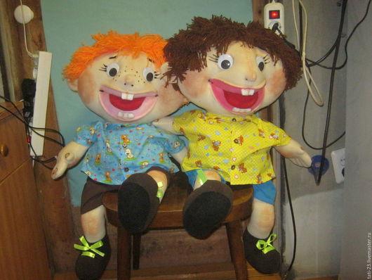"""Развивающие игрушки ручной работы. Ярмарка Мастеров - ручная работа. Купить Логопедические куклы """"Филя и Коля"""". Handmade. Комбинированный"""