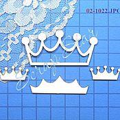 Материалы для творчества handmade. Livemaster - original item chipboard crown 02-1022. Handmade.