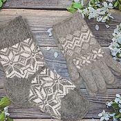 Аксессуары handmade. Livemaster - original item Sets down women`s Socks and gloves. Handmade.