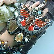 """Украшения ручной работы. Ярмарка Мастеров - ручная работа """"Хранительница сада"""" колье-кулон с бабочкой. Handmade."""