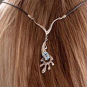 Украшения handmade. Livemaster - original item Necklace: Aqua silver necklace. Handmade.