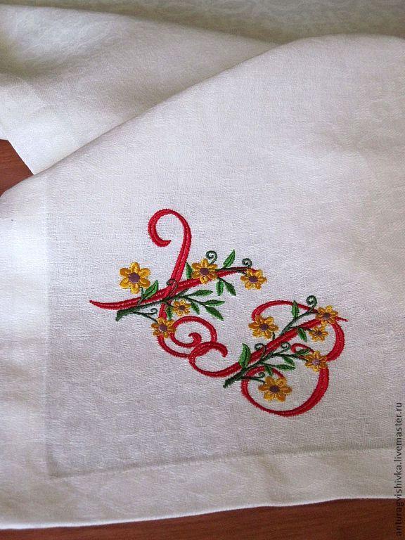 Пасхальная скатерть с вышивкой