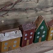 """Для дома и интерьера ручной работы. Ярмарка Мастеров - ручная работа Интерьерные домики """"Улица Вишневая"""". Handmade."""