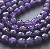 Материалы для творчества handmade. Livemaster - original item Amethyst faceted beads 7mm. Handmade.