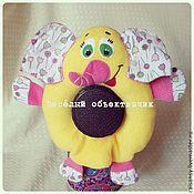 Куклы и игрушки ручной работы. Ярмарка Мастеров - ручная работа Игрушка на объектив слон. Handmade.