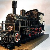 Для дома и интерьера handmade. Livemaster - original item Watch locomotive. Handmade.