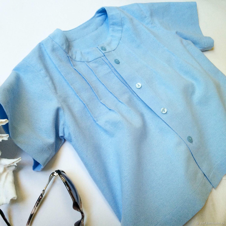 Одежда для мальчиков, ручной работы. Ярмарка Мастеров - ручная работа. Купить Льняная рубашка для мальчика, рубашка из льна. Handmade. на мальчика