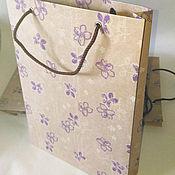 Сувениры и подарки ручной работы. Ярмарка Мастеров - ручная работа Пакет из крафт-бумаги, 28х20х4,5 см. Handmade.