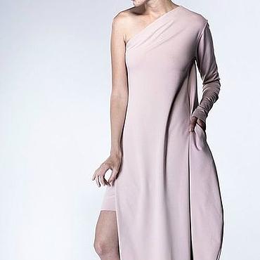 Одежда ручной работы. Ярмарка Мастеров - ручная работа Длинное платье на одно плечо. Handmade.