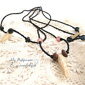 Украшения handmade. Livemaster - original item Protective Fang-amulet of bones leopard. Handmade.