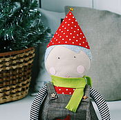 Материалы для творчества handmade. Livemaster - original item Doll Olivia with a set of Christmas clothes: a master class in PDF. Handmade.