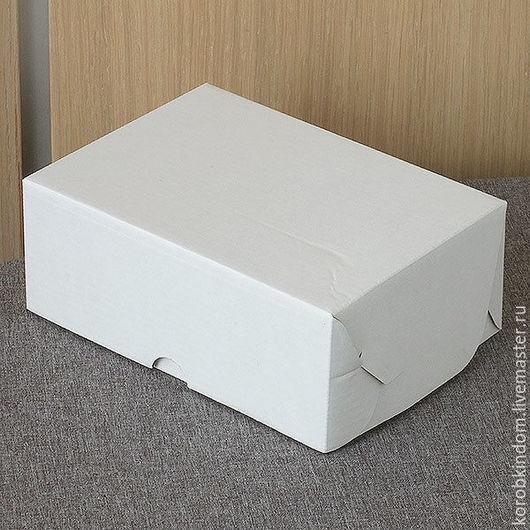 Упаковка ручной работы. Ярмарка Мастеров - ручная работа. Купить Коробка 15х11х6 из микрогофрокартона белого. Handmade. Коробочка, коробка подарочная