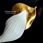 Украшения handmade. Livemaster - original item Porcelain brooch from the