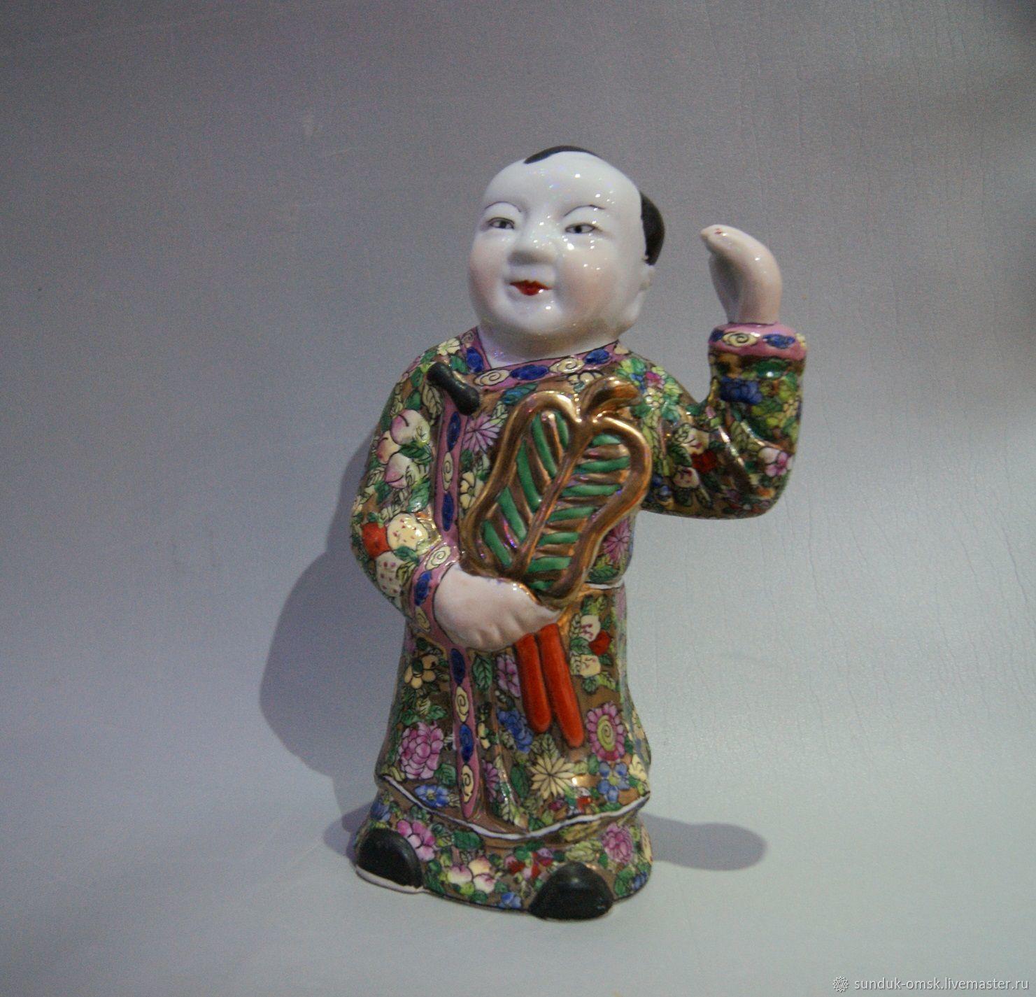 Винтаж: Китаец с веером Старый Китай, Винтажные предметы интерьера, Омск,  Фото №1