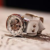 ручной работы. Ярмарка Мастеров - ручная работа Наручные часы Belts White механические. Handmade.