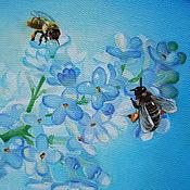 Картины и панно handmade. Livemaster - original item Oil painting of White lilac. Handmade.