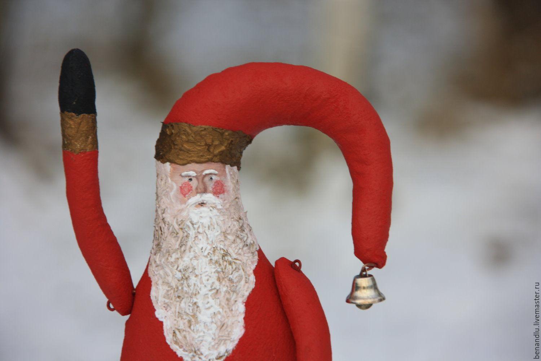 Дед Мороз. Санта Клаус. Интерьерная кукла Santa Claus, Дед Мороз и Снегурочка, Санкт-Петербург,  Фото №1