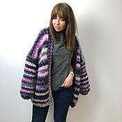 Одежда handmade. Livemaster - original item Cardigan warm stripe. Handmade.