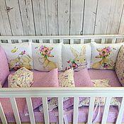 Комплекты одежды ручной работы. Ярмарка Мастеров - ручная работа Бортики в детскую кроватку, бамперы. Handmade.