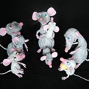Куклы и игрушки ручной работы. Ярмарка Мастеров - ручная работа Крысюки. Handmade.