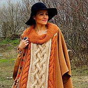 Одежда ручной работы. Ярмарка Мастеров - ручная работа Пончо из шерсти с аранами (№73). Handmade.