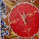 """Часы для дома ручной работы. Ярмарка Мастеров - ручная работа. Купить Часы настенные мозаичные """"Красно-солнышко"""". Handmade."""