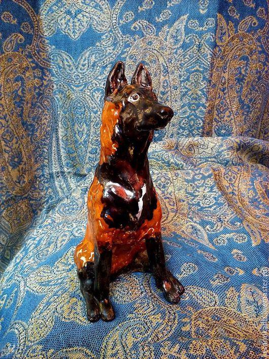 Статуэтки ручной работы. Ярмарка Мастеров - ручная работа. Купить Статуэтка собаки породы Малинуа. Handmade. Рыжий, черный