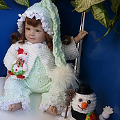 """Куклы и игрушки ручной работы. Ярмарка Мастеров - ручная работа Костюм """"Снеговушка"""" (2 шапочки, шубка-кофточка, штанишки). Handmade."""
