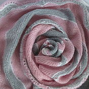Аксессуары handmade. Livemaster - original item Shawl grey-pink twilight wool-mohair. Handmade.