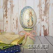 Подарки к праздникам ручной работы. Ярмарка Мастеров - ручная работа Пасхальное яйцо Три мотива, 20см. Handmade.
