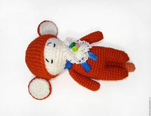 Человечки ручной работы. Ярмарка Мастеров - ручная работа. Купить Вязаная крючком игрушка Рыжая обезьянка. Handmade. Рыжий, огонь