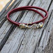 Украшения handmade. Livemaster - original item Women`s leather bracelet Fox. Handmade.