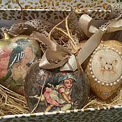 """Подарки к праздникам ручной работы. Ярмарка Мастеров - ручная работа Наборчик керамический, """"Сердца ретро"""". Handmade."""