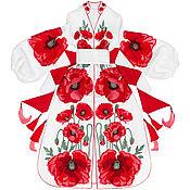 "Одежда handmade. Livemaster - original item Long dress ""Poppy Desire"". Handmade."