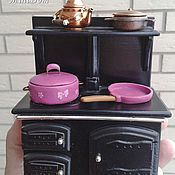 Куклы и игрушки handmade. Livemaster - original item Accessories for dollhouse - pot and pan for dollhouse miniature. Handmade.