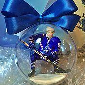 """Подарки к праздникам ручной работы. Ярмарка Мастеров - ручная работа подарок хоккеисту """"Шар с хоккеистом"""". Handmade."""